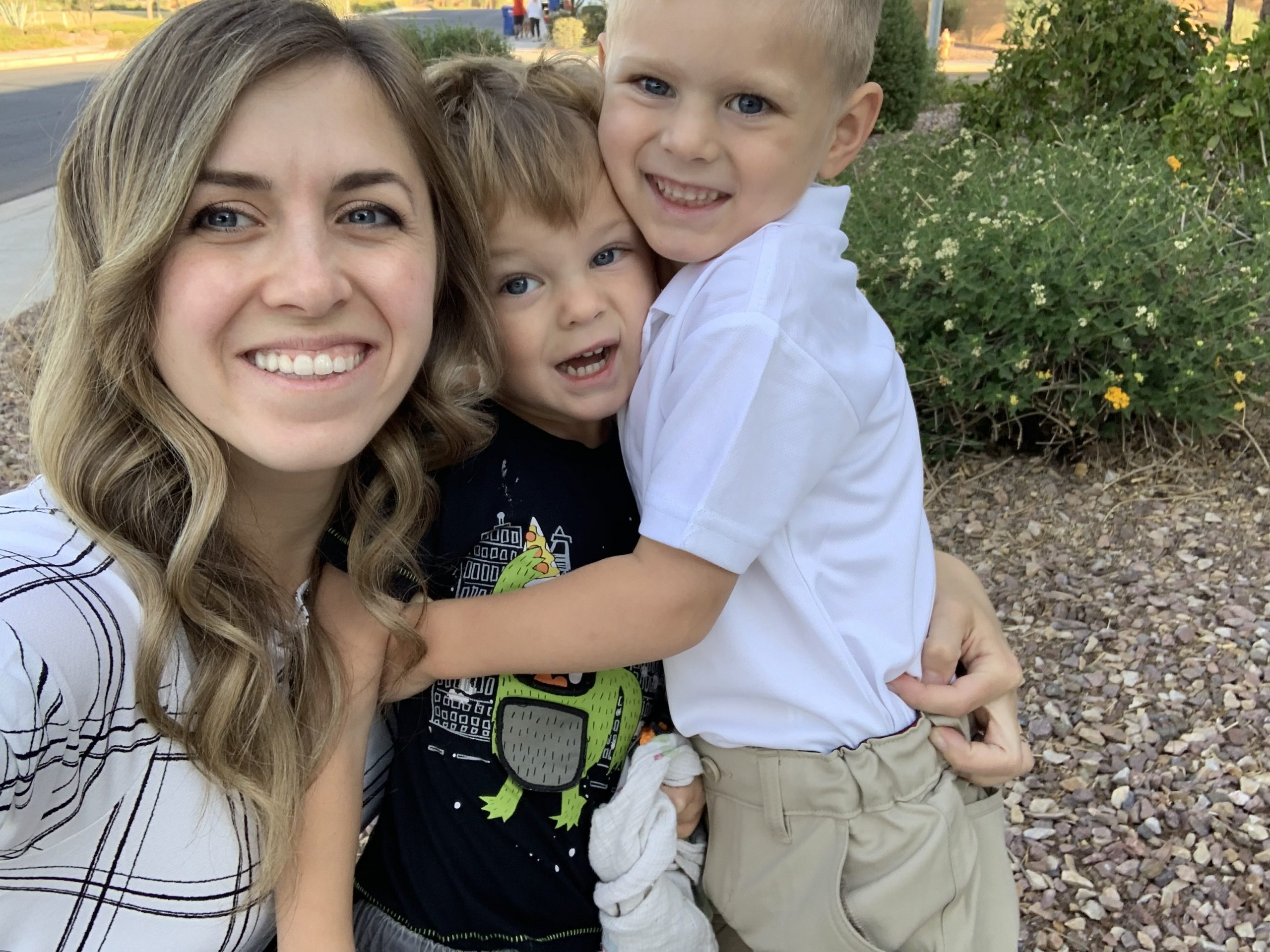 Lindsay and her two sons, now four and five.